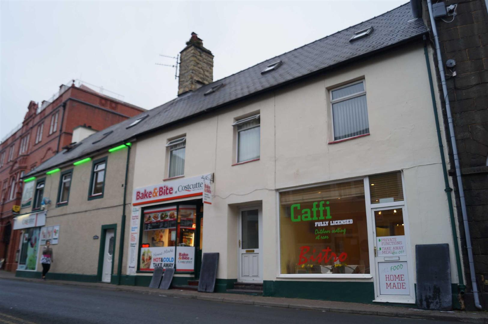Cafe/Takeaway with Flat, Penlan Street, Pwllheli